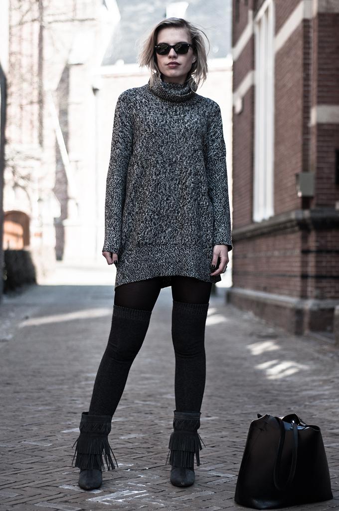 Fashion blogger outfit Isabel Marant KO fringe boots the sting