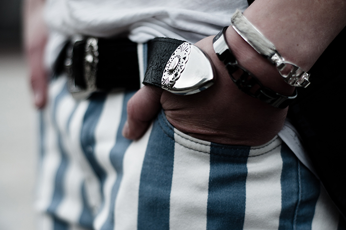 Outfit details western cowboy belt bandhu bracelets ponyhair