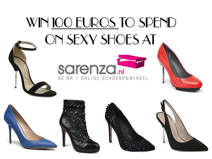 SARENZA WIN 100 EUROS SEXY SHOES GIVEAWAY