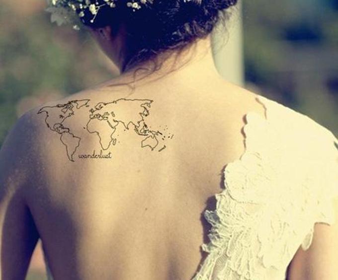Small World Map Tattoo: RED REIDING HOODRED REIDING HOOD