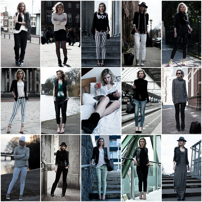 april 2013 recap fashion blogger outfits dark edgy summary wearing rock chick