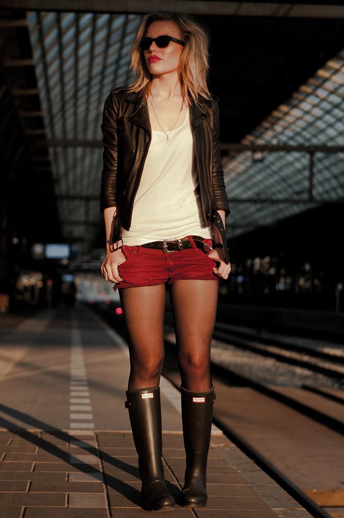 julie wears wellingtons