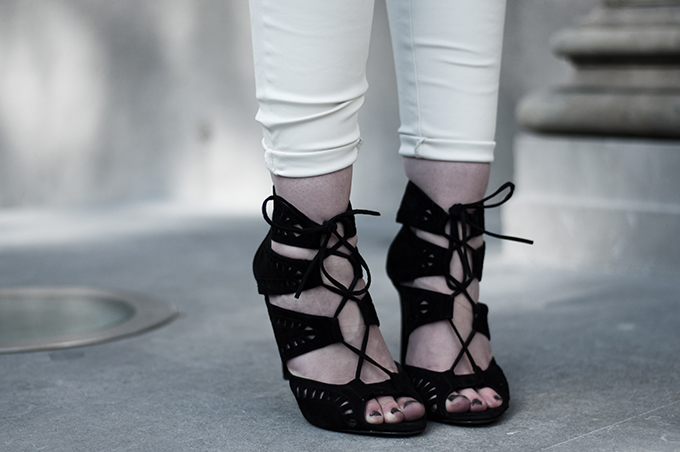 Details shoes zara suede lace up altuzzara sandals KO knock off look-a-like wearing fashion blogger
