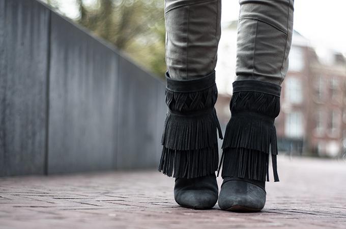 Details The Sting western boots Isabel Marant costes fringe ankle biker pants KO knock off look-a-like