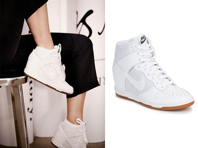 Nike Dunk Sky Hi  all white Spartoo mesh wedge sneakers wishlist sneakerfreakers shoeporn