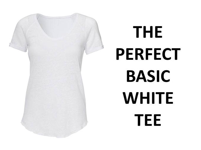 The perfect basic white tee t-shirt HEMA linnen linen tip 15 euro