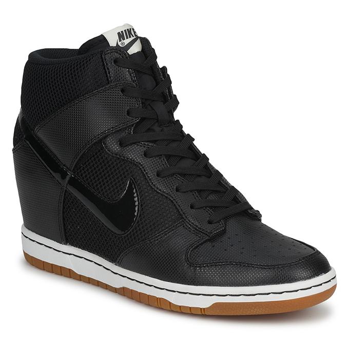 All black Nike Dunk Sky Hi High mesh sneakers sneaker wedge shoes sneakerwedges spartoo