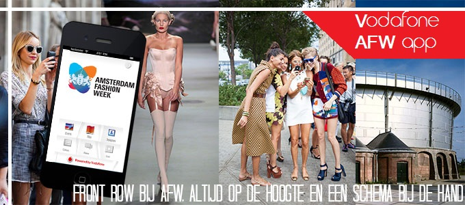 AFW vodafone app banner advertorial Red Reiding Hood Blogtoday blogger amsterdam fashion week