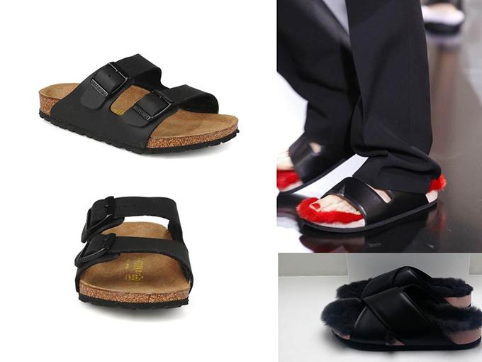 Birkenstocks versus Celine Furkenstocks Arizona leather grandpa orthopaedic style streets fashion catwalk ugly