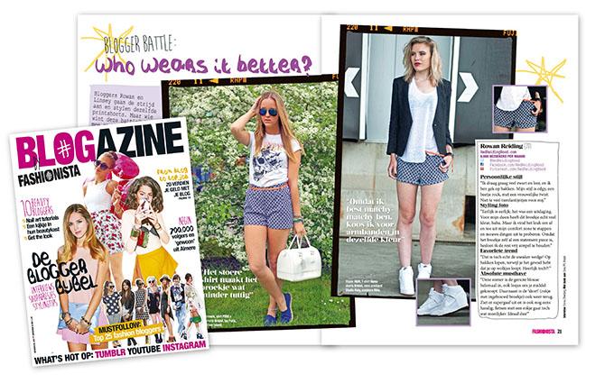 Blogtoday blogger Rowan Reiding and Linsey Sijmons Blogger Battle Fashionista magazine blogazine