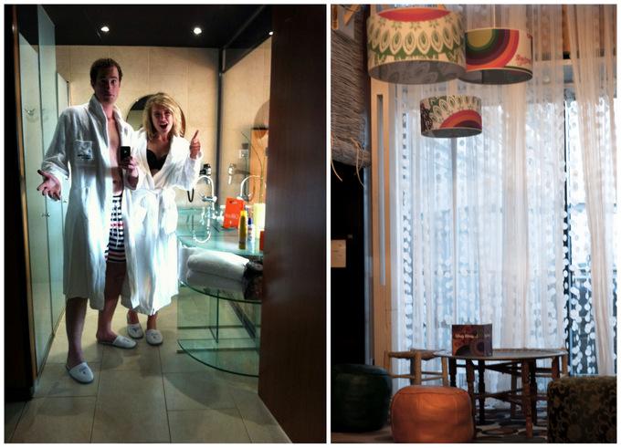 BCN Barcelona princess hotel desigual lounge bar room luxe modern glass beautiful view 2013 experience