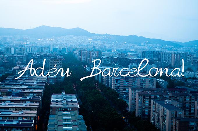 Adéu Barcelona Barca BCN adios goodbye princess hotel at night city skyline cityscape view postcard background screensaver