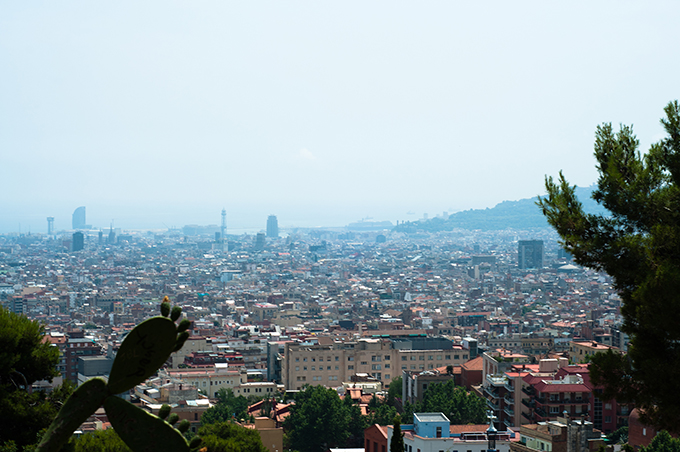 View Park Guell highest point spot sight Barcelona high landscape Barca BCN guide tips tricks vacation 2013