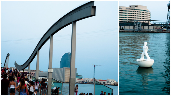 Port de barcelona collage summary W hotel water sea boats safe haven harbour beautiful barca guide sight view 2013