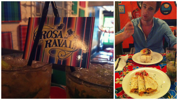 Rosa del Raval mojitos margaritas cheap dinner drinks food tips tricks mexican food eat drink barcelona guide 2013