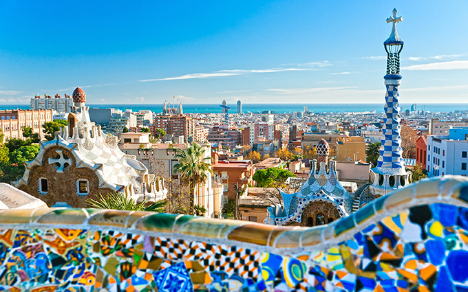 barcelona spain parc guell view map tips view skyline