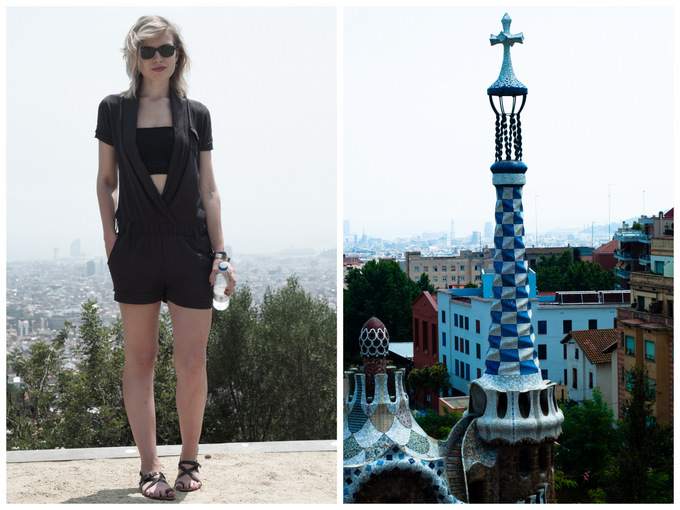 park guell collage fashion blogger gaudi view sight architecture barcelona art landscape barcelona must-visit do guide tips