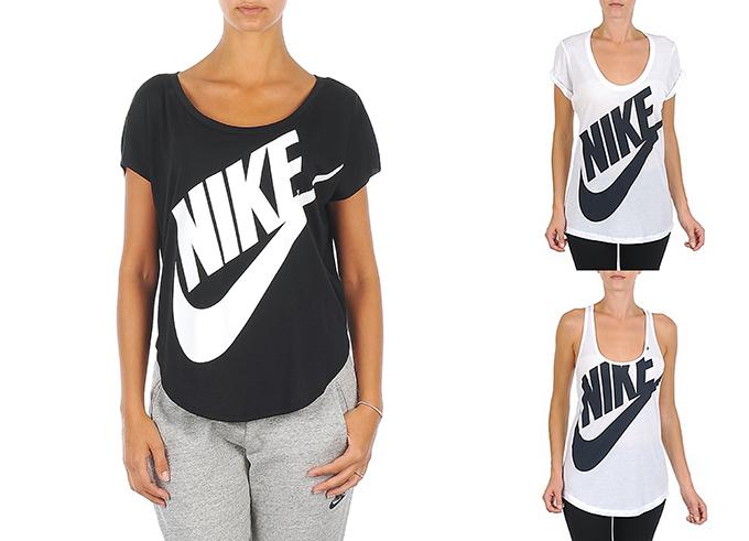 Nike tee Spartoo Schoenen T-shirt signal BF EXPLD oversized racerback black white