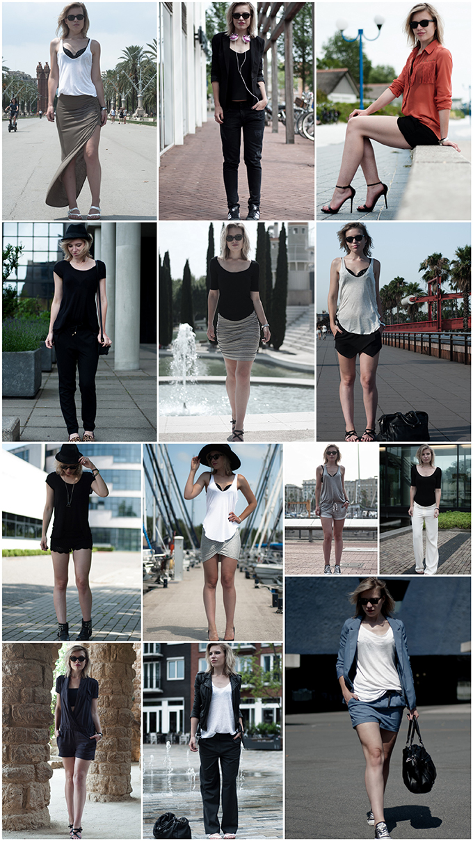 Fashion blogger outfit recap summary looks wearing july 2013 13 monthly barcelona BCN barca