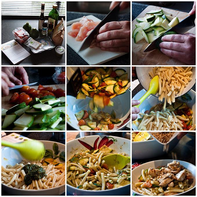 How to prepare pastasald HelloFresh box 3 meals experience ervaring food blogger eten service