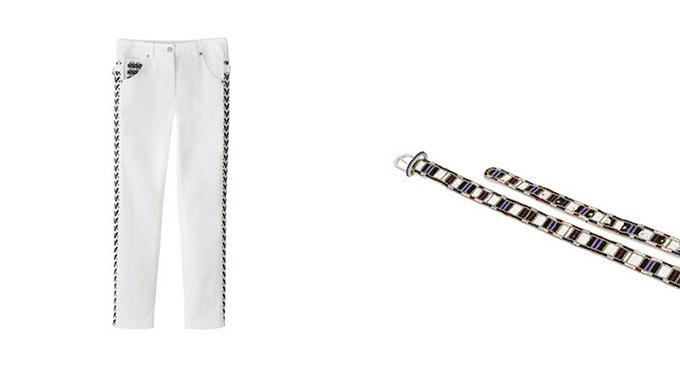 Isabel Marant pour H&M Aztec belt white jeans aztec sides