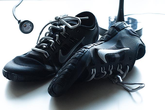 Red Reiding Hood: Nike Free Bionic training sneakers sarenza details wearing