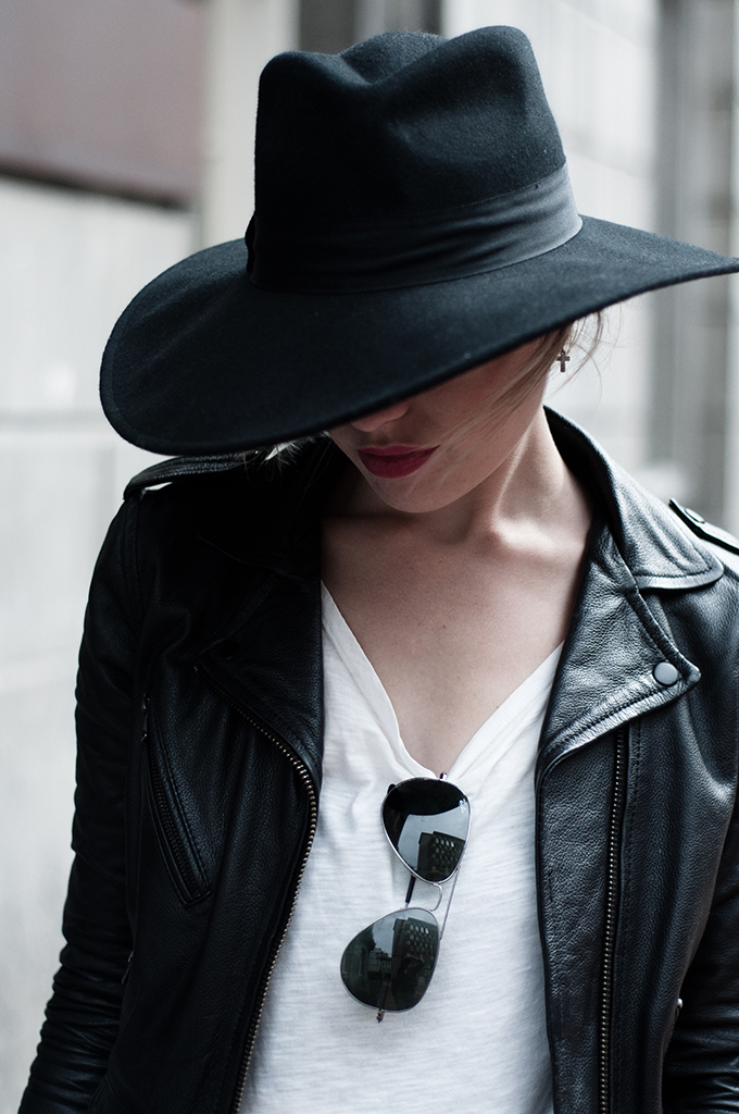 Red Reiding Hood: H&M New Icons black wide floppy hat fedora Saint Laurent look-a-like