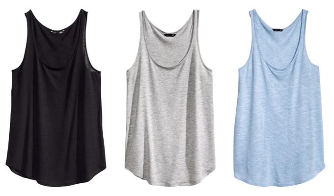 Red Reiding Hood: H&M Best Basics Perfect basic tank top vest tee black grey baby blue