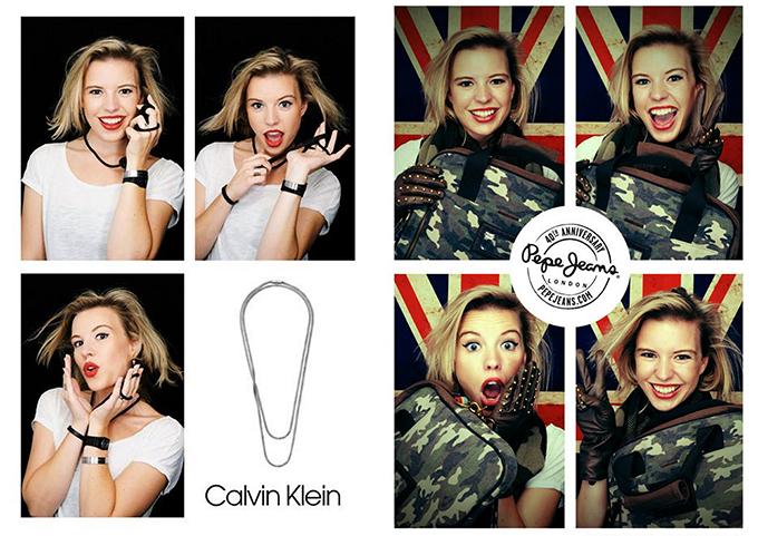 Red Reiding Hood: Calvin Klein jewellery Pepe Jeans london photobooth fun The Big U 6