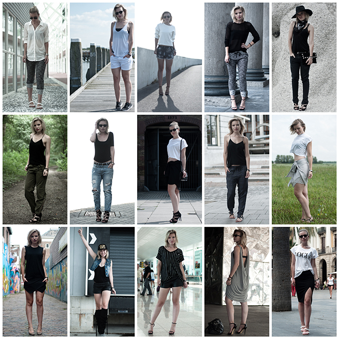 Outfits recap august fashion blogger looks wearing summer style bare legs