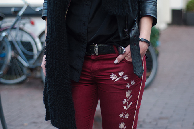 RED REIDING HOOD: Isabel Marant monroe pants cowboy western embroidered NLY Trend backstage trousers look-al-like KO outfit details