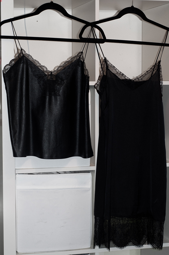 RED REIDING HOOD: Zara boutique leather lingerie slip dress top lace black night daily wear new in