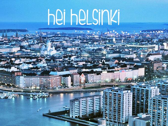 RED REIDING HOOD: Travel Hei Helsinki skyline city finland night