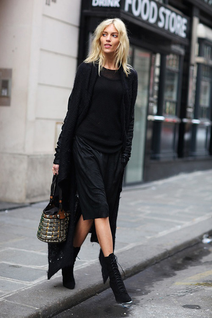 RED REIDING HOOD: All black everything Alexander Wang layers mesh sandals edgy rock outfit fashion inspiration style what to wear pinterest