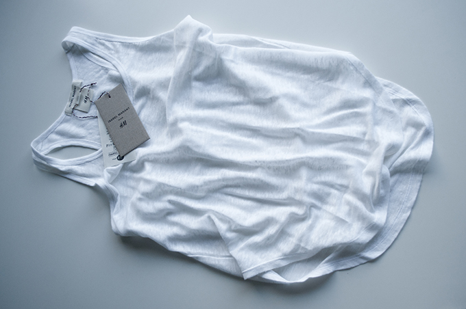 RED REIDING HOOD: Isabel Marant pour H&M score haul shoplog tank top basic