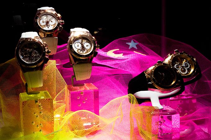 RED REIDING HOOD: Luxe watches rhinestones diamonds glistening sparkly watches Technomarine luxury brand event