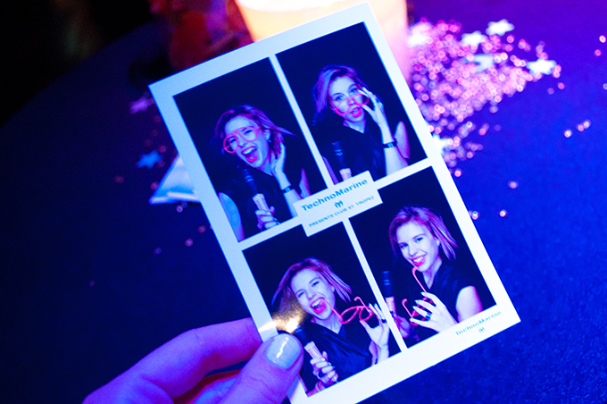 RED REIDING HOOD: Photobooth fun glowsticks TechnoMarine event Harbour Club Amsterdam