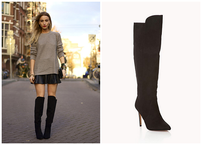 RED REIDING HOOD: The perfect over the knee boots suede queen of jet lags fashion blogger wearing forever 21 shoes