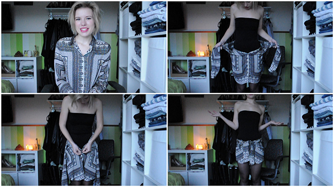 RED REIDING HOOD: Fashion blogger from shirt to skirt tutorial YouTube channel DIY