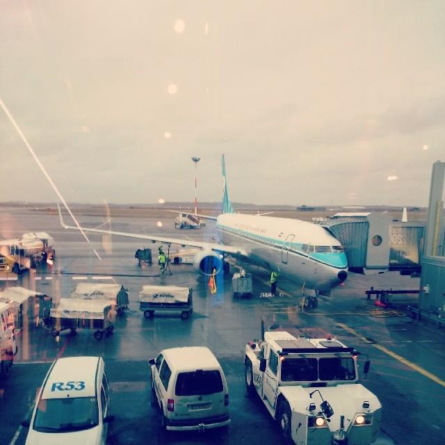 RED REIDING HOOD: KLM Royal Dutch Airlines Plane vliegtuig retro vintage bestickering marketing stunt instagram Helsinki Amsterdam Vantaa Airport