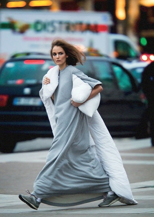 RED REIDING HOOD: Pinterest fashion inspiration blogger streetstyle model off duty comfy comfortable outfit sneakers maxi dress maison martin margiela down coat