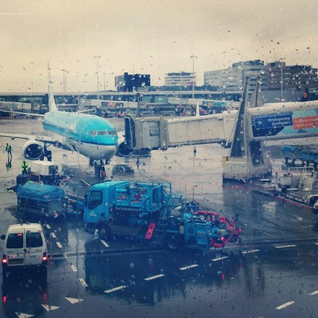 RED REIDING HOOD: KLM Royal Dutch airlines plane arrived gate c8 schiphol instagram instaweek instadiary flying helsinki amsterdam