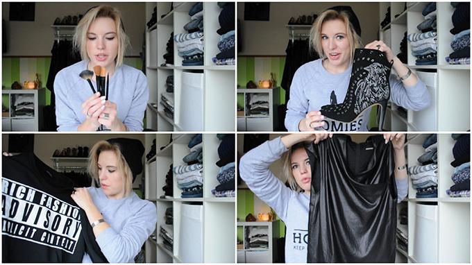 RED REIDING HOOD: Video vlog YouTube fashionblogger screenshots shoplog november haul