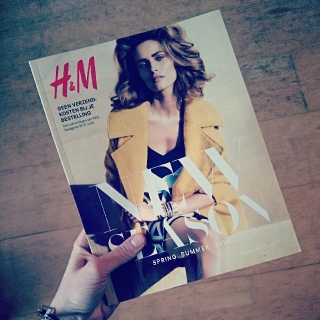 RED REIDING HOOD: Fashion blogger H&M Spring Summer 2014 catalogue magazine shopping