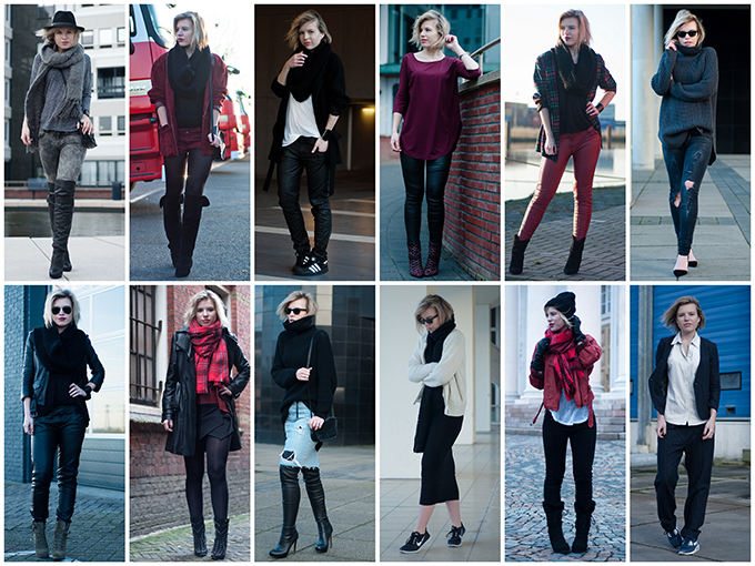RED REIDING HOOD: January 2014 fashion blogger monthly outfits recap