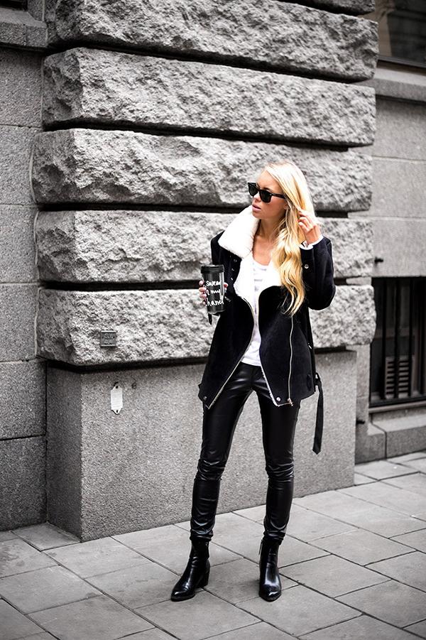 RED REIDING HOOD: My top 10 fashion blogs Victoria Törnegren swedish Scandinavian blogger girls minimalistic style black leather