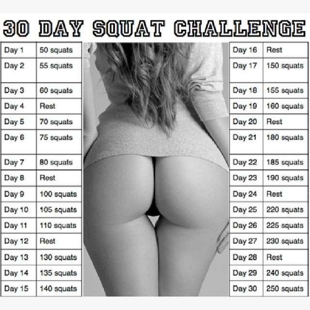 RED REIDING HOOD: Fashion blogger 30 day squat challenge before after results schema scheme