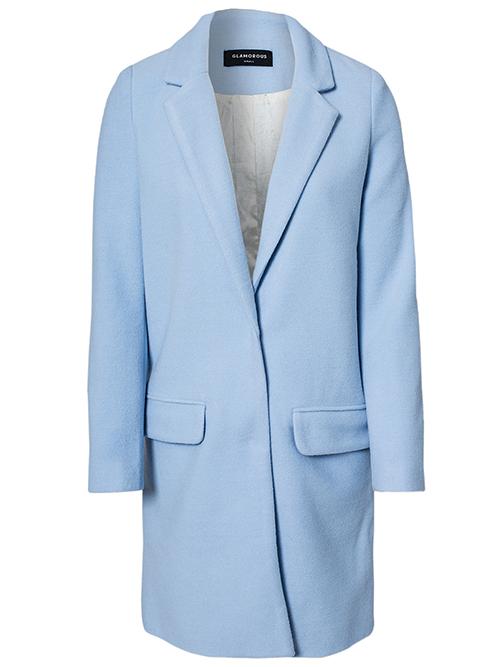 RED REIDING HOOD: Baby blue woolen trench coat Nelly glamurous long coat