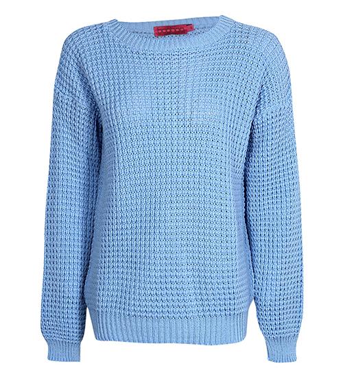 RED REIDING HOOD: Boohoo vintage baby blue jumper sweater fisherman fashion