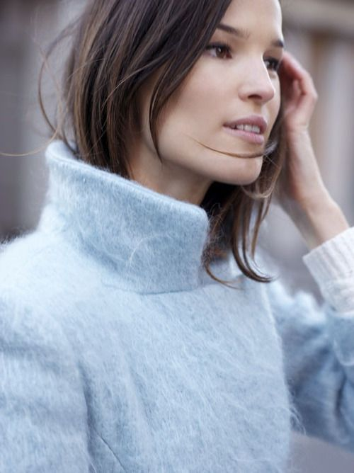 RED REIIDNG HOOD: Baby blue mohair coat Hanneli Mustaparta model off duty fahsion blogger outfit look